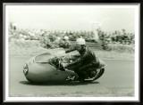 Moto Guzzi Dustbin GP Motorcycle Race Framed Giclee Print by Giovanni Perrone