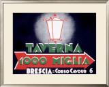 Mille Miglia Taverna Framed Giclee Print