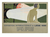 Liege, Belgium Exhibition of Grande Industrie, Sciences and Applications Giclee Print