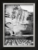 Navajo Farming Framed Giclee Print by Edward S. Curtis