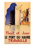 Le Havre Port Poster Giclee Print