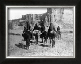 Navajo on Horseback Framed Giclee Print by Edward S. Curtis