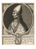 Pope Hadrianus IV (Nicholas Breakspeare) the Only English Pope Giclee Print