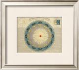 Revolution Annuelle de la Terre Autour du Soleil, c.1850 Framed Giclee Print by H. Nicollet