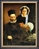 Portrait of M. and Mme. Auguste Manet Framed Giclee Print by Édouard Manet