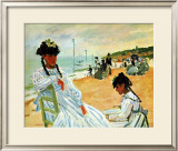 Camille at the Beach Framed Giclee Print by Claude Monet