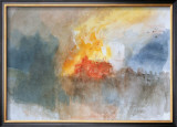 The Burning of the Houses of Parliament, c.1834 Posters by William Turner