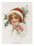 Miss Santa Claus Giclee Print
