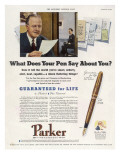 Parker Pens - What Does Your Pen Say About You  Giclee Print