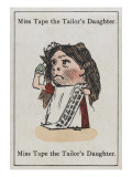 "Miss Tape the Tailor's Daughter, from ""Happy Families"" Giclee Print"