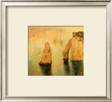 Rocks at Sea Framed Giclee Print by Claude Monet