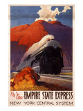 New Empire State Express Train Giclee Print