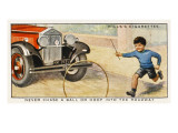 Never Chase a Ball or Hoop into the Roadway as This Youngster Is Doing ' Giclee Print