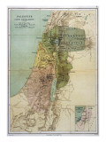 Map of Palestine During New Testament Times Giclee Print