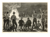 Lord Randolph Churchill at a Camp-Fire Concert, 1891 Wydruk giclee