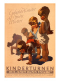 Kdf Poster for Children's Gymnastics Giclee Print