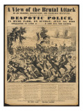Political Poster Condeming 'Despotic Police' Giclee Print by Metropolitan Police
