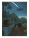 Missionary and 37 Others See a Hovering Saucer At Boianai Giclee Print by Michael Buhler