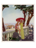 People on Holiday on the French Riviera, Enjoying the Sunshine Giclee Print