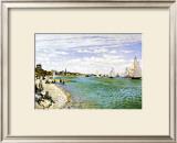 The Beach at Sainte Adresse Framed Giclee Print by Claude Monet