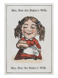 """Mrs Bun the Baker's Wife, from """"Happy Families"""" Giclee Print"""