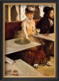 L'Absinthe Framed Giclee Print by Edgar Degas