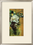 Jane Avril Dancing Framed Giclee Print by Henri de Toulouse-Lautrec