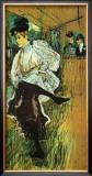 Jane Avril Dancing Framed Giclee Print by Henri de Toulouse-Lautrec