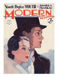 Modern Chat Magazine Cover Giclee Print by David Wright