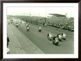 Monza Motorcycle GP Race Framed Giclee Print