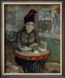 Woman at a Table in the Cafe du Tambourin Posters by Vincent van Gogh