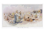Le Touquet: Holidaymakers on the Beach Giclee Print