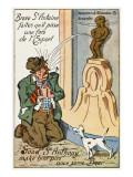 Manneken Pis Postcard Album - Drunkard Praying for Beer Giclee Print
