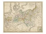 Map of Germany (Prussia) Showing the Various Nation States Giclee Print
