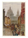 Ludgate Hill with St Paul's Cathedral at the Top Giclee Print