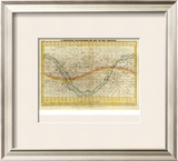Celestial Planisphere, or Map of the Heavens, c.1835 Framed Giclee Print by Elijah H. Burritt