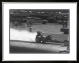 NHRA Top Fuel Rail Dragster Framed Giclee Print by David Perry