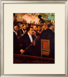 Orchestra at the Opera Framed Giclee Print by Edgar Degas
