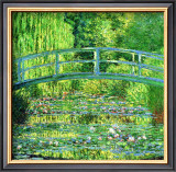 The Water Lilly Pond, Green Harmony Framed Giclee Print by Claude Monet