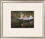 The Boat at Giverny Framed Giclee Print by Claude Monet