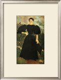 Portrait of a Woman Framed Giclee Print by Henri de Toulouse-Lautrec