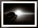 Deuce Coupe Salt Flat Racer Framed Giclee Print by David Perry