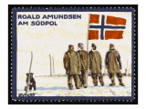 Norwegian Explorer Amundsen and His Colleagues at the South Pole Giclee Print