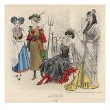 Ladies in Fancy Dress Giclee Print by Philip Talmage