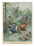 M. Luzeau Shoots His Wife Whilst She Picnics with Her Lover in the Bois De Vincennes Giclee Print