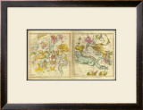 The Constellations in October - March, c.1835 Framed Giclee Print by Elijah H. Burritt