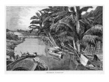 River Scene in the Outskirts of Saigon Giclee Print