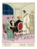 Players and Spectators Wear Elegant Creations by Jean Patou, Paul Poiret and Doucet Giclee Print