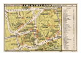 Map of Theatres in London Theatreland Giclee Print