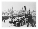 Nicolas II Is Crowned Tsar at St Petersburg. the Procession Crosses the Kamennyy Bridge Giclee Print